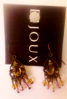 Bijoux green stone set drop earrings (Code 3028)
